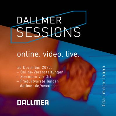 Dallmer Sessions as of December 2020 - The Arnsberg-based drainage specialist has now expanded its training offering